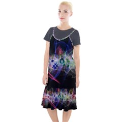 Particles Music Clef Wave Camis Fishtail Dress