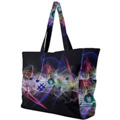 Particles Music Clef Wave Simple Shoulder Bag