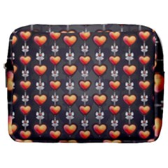 Love Heart Background Valentine Make Up Pouch (large) by HermanTelo