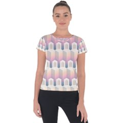 Seamless Pattern Background Entrance Short Sleeve Sports Top
