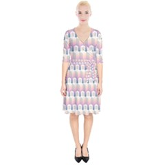 Seamless Pattern Background Entrance Wrap Up Cocktail Dress