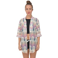 Seamless Pattern Background Entrance Open Front Chiffon Kimono