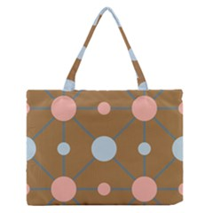 Planets Planet Around Rounds Zipper Medium Tote Bag by HermanTelo