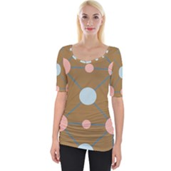 Planets Planet Around Rounds Wide Neckline Tee