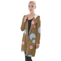 Planets Planet Around Rounds Hooded Pocket Cardigan