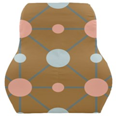 Planets Planet Around Rounds Car Seat Back Cushion