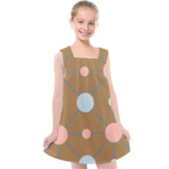 Planets Planet Around Rounds Kids  Cross Back Dress by HermanTelo