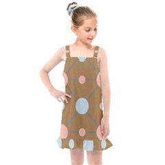 Planets Planet Around Rounds Kids  Overall Dress by HermanTelo
