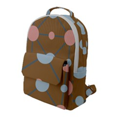 Planets Planet Around Rounds Flap Pocket Backpack (large)