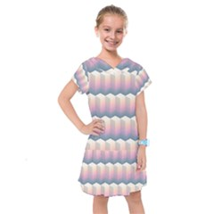 Seamless Pattern Background Block Kids  Drop Waist Dress