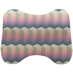 Seamless Pattern Background Block Head Support Cushion