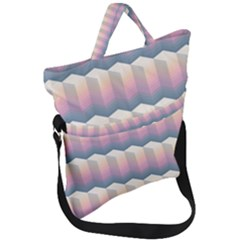 Seamless Pattern Background Block Fold Over Handle Tote Bag