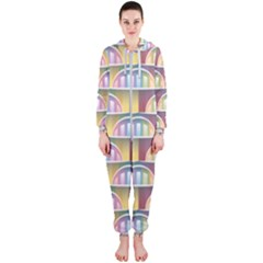 Seamless Pattern Background Abstract Hooded Jumpsuit (ladies)