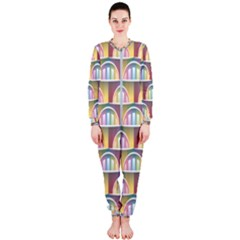 Seamless Pattern Background Abstract Onepiece Jumpsuit (ladies)  by HermanTelo