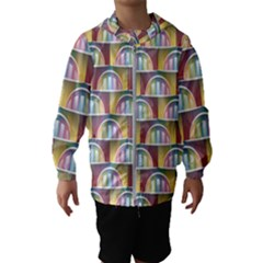 Seamless Pattern Background Abstract Kids  Hooded Windbreaker
