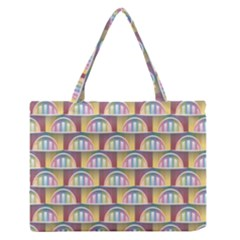 Seamless Pattern Background Abstract Zipper Medium Tote Bag by HermanTelo