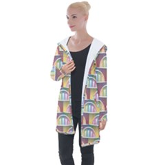 Seamless Pattern Background Abstract Longline Hooded Cardigan by HermanTelo