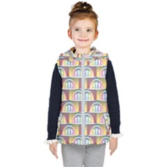 Seamless Pattern Background Abstract Kids  Hooded Puffer Vest