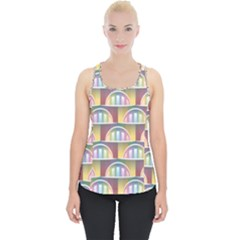 Seamless Pattern Background Abstract Piece Up Tank Top