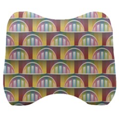 Seamless Pattern Background Abstract Velour Head Support Cushion