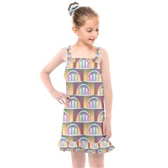 Seamless Pattern Background Abstract Kids  Overall Dress by HermanTelo