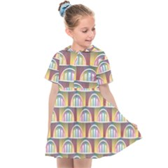 Seamless Pattern Background Abstract Kids  Sailor Dress by HermanTelo