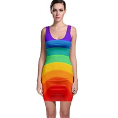 Rainbow Background Colorful Bodycon Dress by HermanTelo