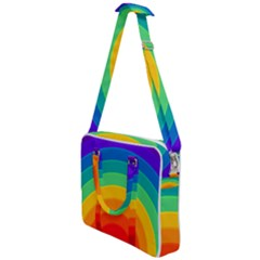 Rainbow Background Colorful Cross Body Office Bag