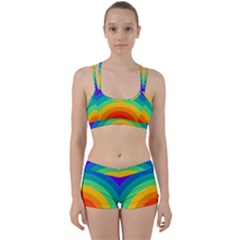 Rainbow Background Colorful Perfect Fit Gym Set by HermanTelo