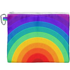 Rainbow Background Colorful Canvas Cosmetic Bag (xxxl)