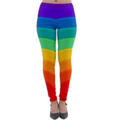 Rainbow Background Colorful Lightweight Velour Leggings