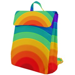 Rainbow Background Colorful Flap Top Backpack