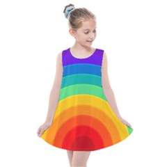Rainbow Background Colorful Kids  Summer Dress by HermanTelo