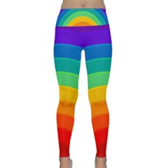 Rainbow Background Colorful Lightweight Velour Classic Yoga Leggings