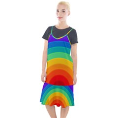 Rainbow Background Colorful Camis Fishtail Dress