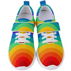 Rainbow Background Colorful Women s Velcro Strap Shoes by HermanTelo