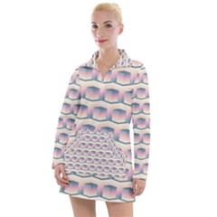 Seamless Pattern Background Cube Women s Long Sleeve Casual Dress