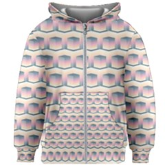 Seamless Pattern Background Cube Kids  Zipper Hoodie Without Drawstring by HermanTelo