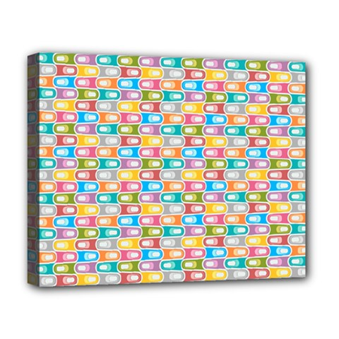 Seamless Pattern Background Abstract Rainbow Deluxe Canvas 20  X 16  (stretched)