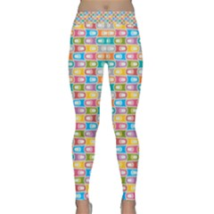 Seamless Pattern Background Abstract Rainbow Classic Yoga Leggings by HermanTelo