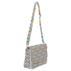 Seamless Pattern Background Abstract Rainbow Shoulder Bag With Back Zipper