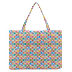 Seamless Pattern Background Abstract Rainbow Zipper Medium Tote Bag by HermanTelo