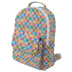 Seamless Pattern Background Abstract Rainbow Flap Pocket Backpack (small) by HermanTelo