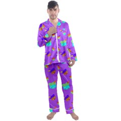 Saint Nicholas Men s Satin Pajamas Long Pants Set by HermanTelo