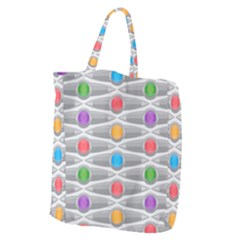Seamless Pattern Background Abstract Circle Giant Grocery Tote