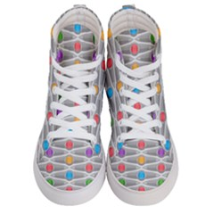 Seamless Pattern Background Abstract Circle Women s Hi-top Skate Sneakers