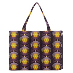 Pattern Background Yellow Bright Zipper Medium Tote Bag by HermanTelo