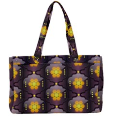 Pattern Background Yellow Bright Canvas Work Bag by HermanTelo