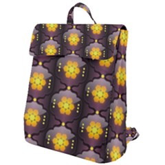 Pattern Background Yellow Bright Flap Top Backpack by HermanTelo