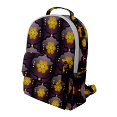 Pattern Background Yellow Bright Flap Pocket Backpack (large) by HermanTelo